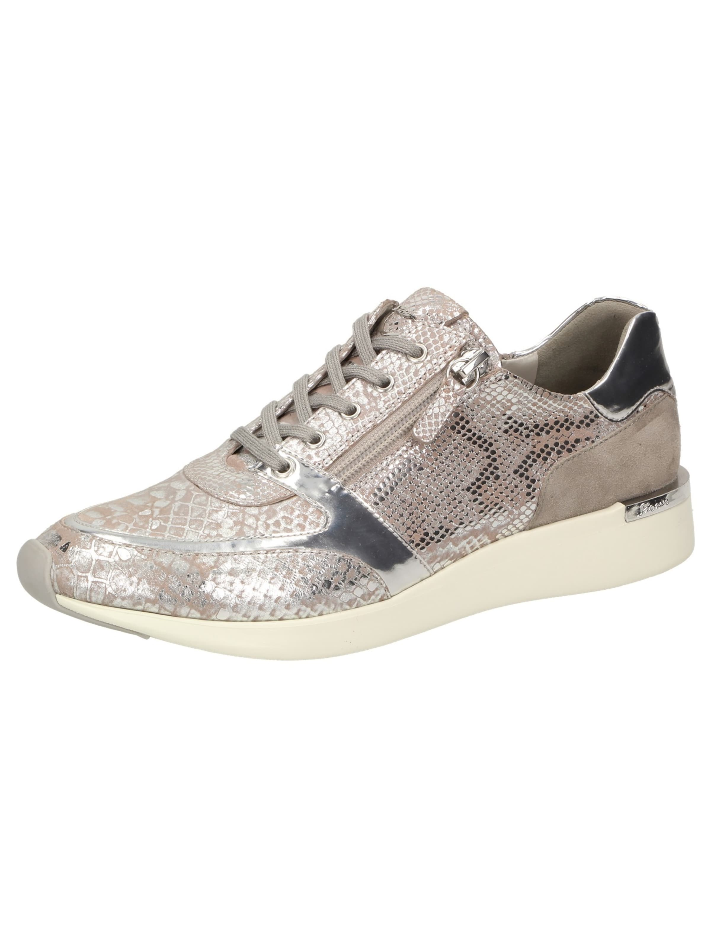 SIOUX Turnschuhe 'Malosika-701' in beige   taupe   silber