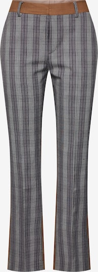 POSTYR Pantalon 'Possophie Check Mix Pants' in de kleur Bruin / Grijs, Productweergave
