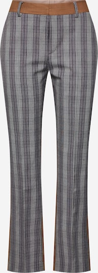 POSTYR Hose 'Possophie Check Mix Pants' in braun / grau, Produktansicht