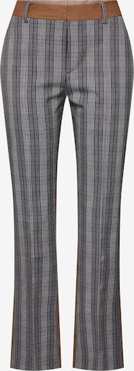Kelnės su kantu 'Possophie Check Mix Pants' iš POSTYR , spalva - ruda / pilka, Prekių apžvalga