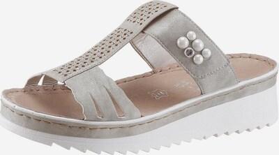 RIEKER Sandale in grau: Frontalansicht