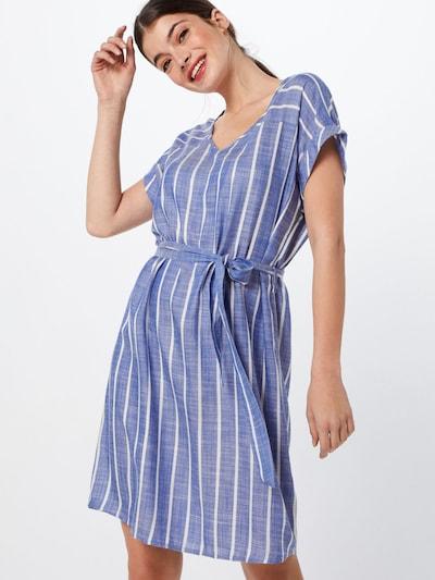 JACQUELINE de YONG Sukienka 'JANINE' w kolorze niebieski / białym, Podgląd na modelu(-ce)