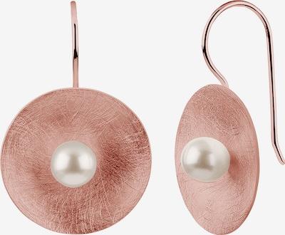 Nenalina Ohrringe in rosegold / perlweiß, Produktansicht