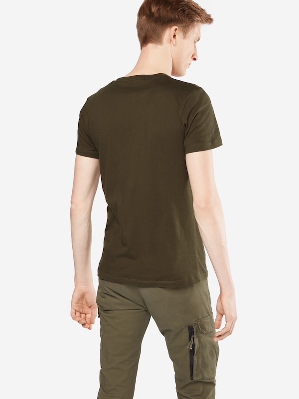 TOM TAILOR DENIM Shirt 'Crewneck tee with print'