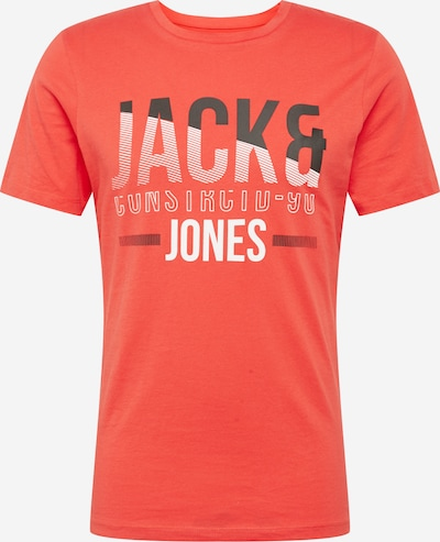 JACK & JONES T-Shirt 'Koral' en bleu foncé / rouge / blanc: Vue de face