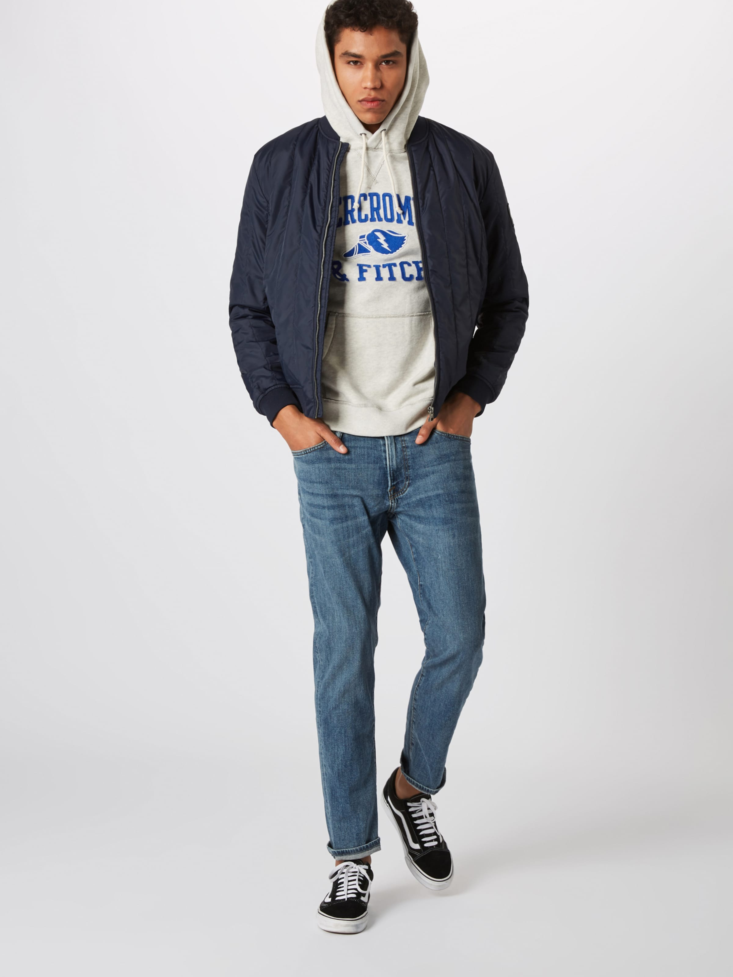 Popover' Sweat En shirt BleuGris Abercrombieamp; Fitch Club 'athletic tsQrCdxh