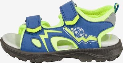 LURCHI Sandalen 'Blinkies' in himmelblau / kiwi, Produktansicht
