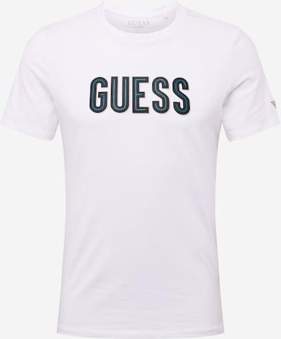 GUESS T-Shirt in blau / schwarz / weiß, Produktansicht