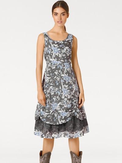 heine Kleid in rauchblau / schlammfarben, Modelansicht