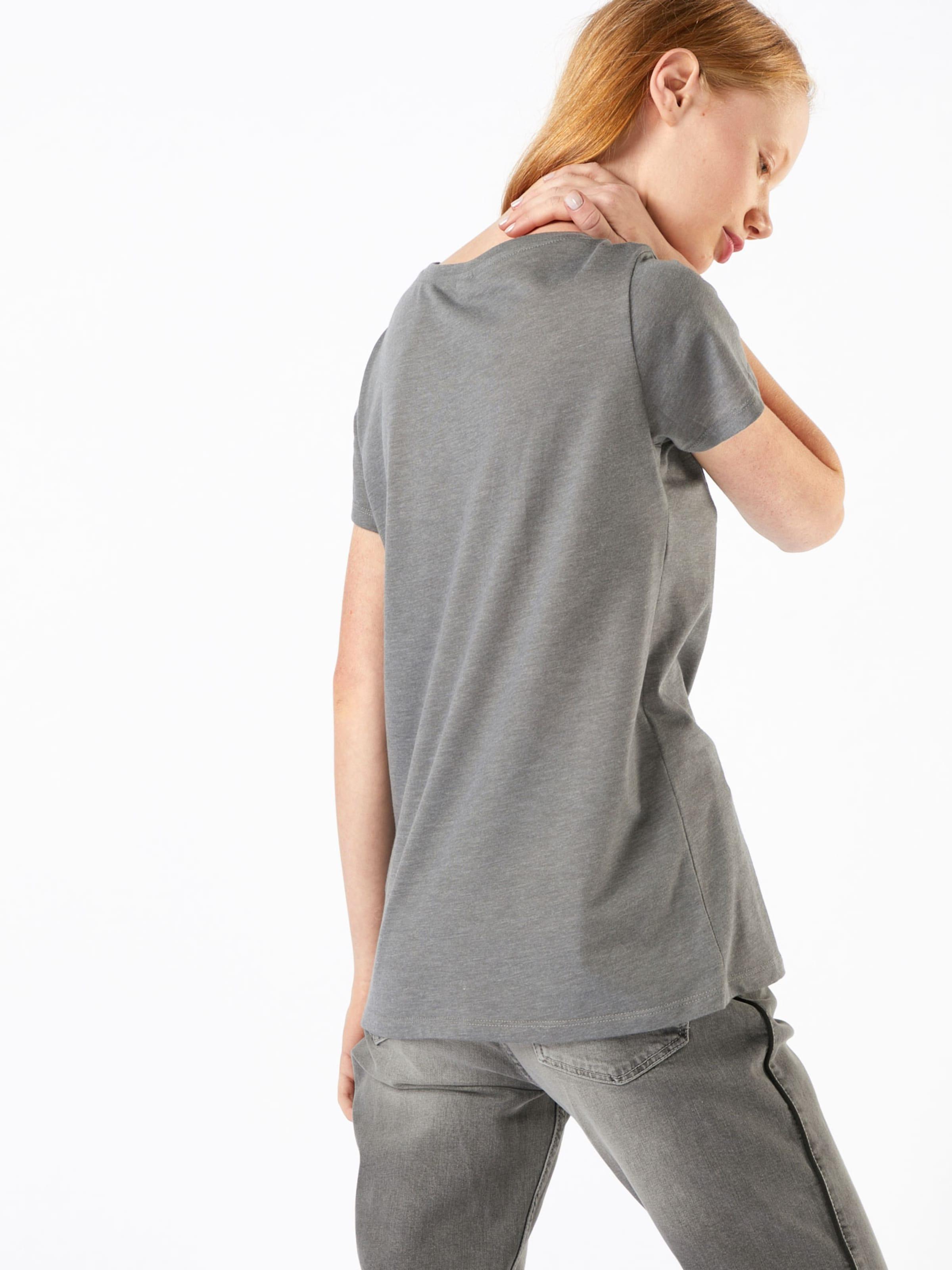 Iriedaily T 'blowball' shirt En ChinéBlanc Gris qzpSUMV