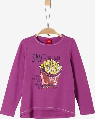 s.Oliver Junior Langarmshirt in beere, Produktansicht