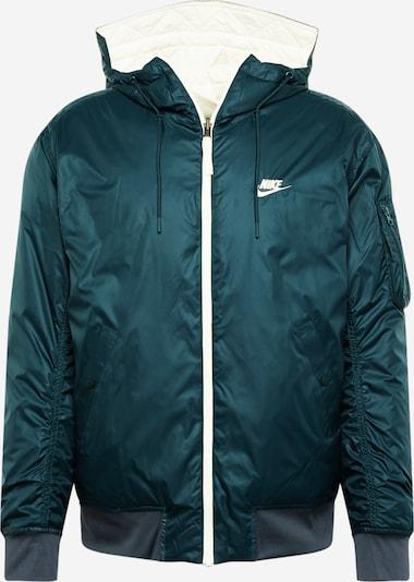 Nike Sportswear Jacke 'Windrunner' in khaki / petrol / weiß, Produktansicht