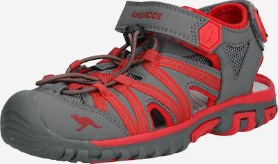 KangaROOS Sandale 'Osato' in grau / rot, Produktansicht