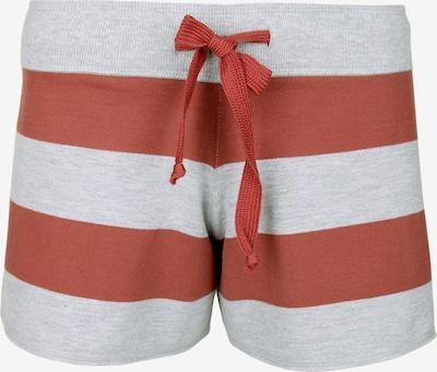 Juvia Sweatshorts in grau / pastellrot, Produktansicht