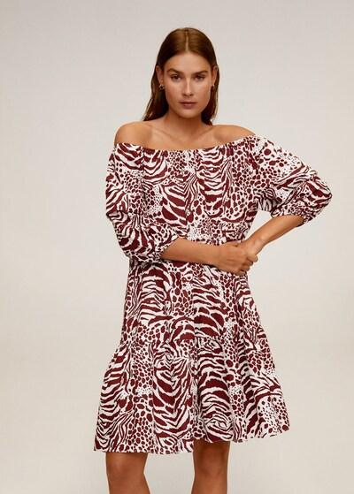 MANGO Kleid 'alba' in rubinrot, Modelansicht