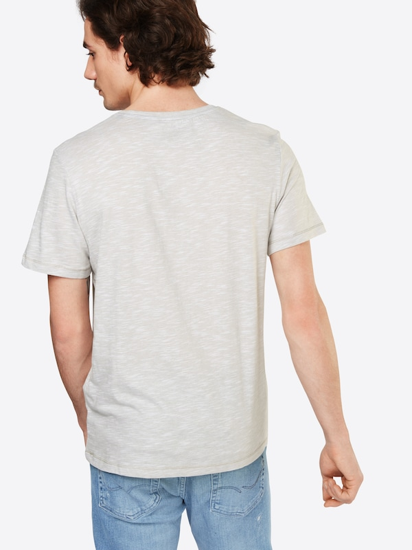 TOM TAILOR T-Shirt in Flammgarn-Optik