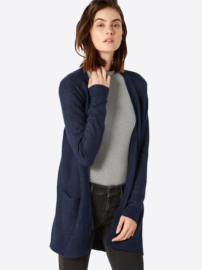 VILA Gebreid vest 'Ril' in de kleur Blauw, Modelweergave