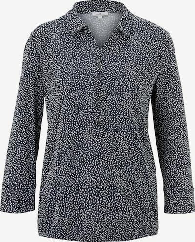 TOM TAILOR Bluse in ultramarinblau / weiß, Produktansicht