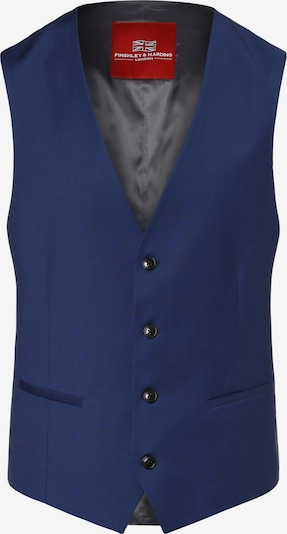 Finshley & Harding Weste 'Henry' in blau / taubenblau, Produktansicht