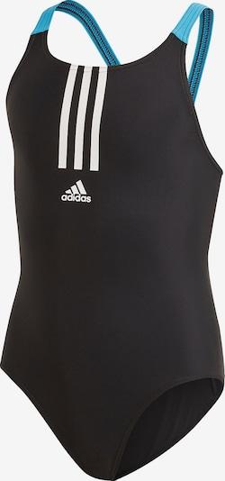 ADIDAS PERFORMANCE Badeanzug in neonblau / schwarz / weiß, Produktansicht