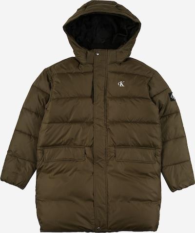 Calvin Klein Jeans Abrigo 'Essential' en marrón oscuro / oliva, Vista del producto