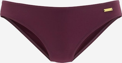 LASCANA Bas de bikini 'Kati' en aubergine, Vue avec produit