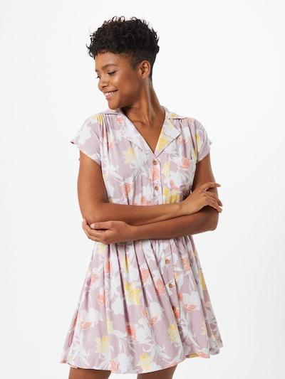 ROXY Kleid 'Sunny Days Ahead' in hellgelb / lila / rosa, Modelansicht