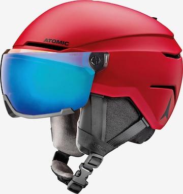 ATOMIC Helmet 'Savor Visor Stereo' in Red