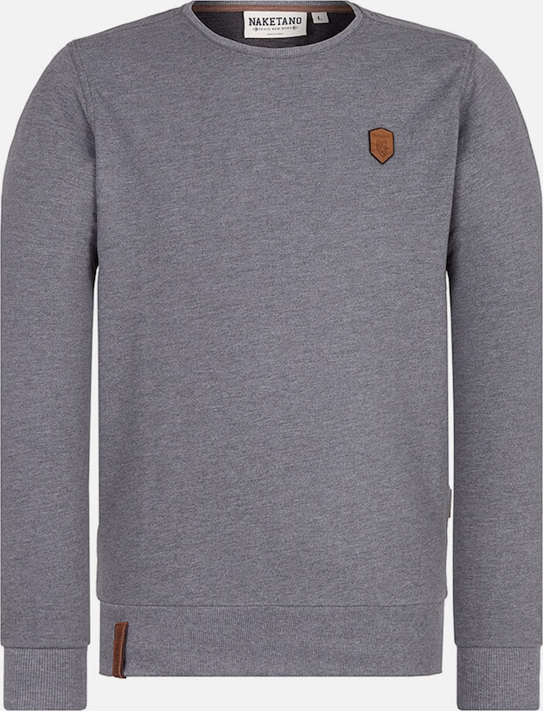 naketano Sweat-shirt 'La Posta di Falcone' en gris foncé: Vue de face