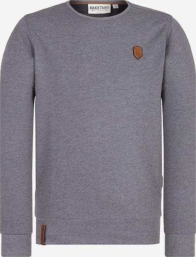 naketano Sweatshirt 'La Posta di Falcone' in dunkelgrau, Produktansicht