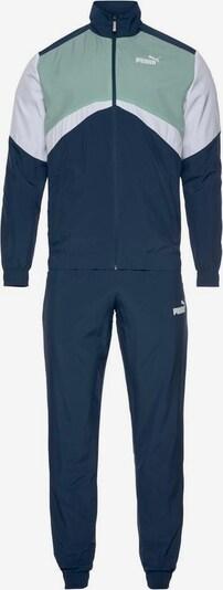 PUMA Sportanzug 'Cb Retro Suit Woven Cl' in enzian / mint / weiß: Frontalansicht
