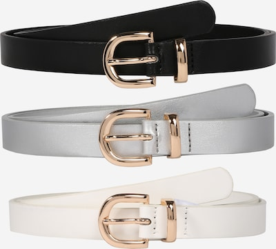 ABOUT YOU Ledergürtel 'Malina' in schwarz / silber / weiß, Produktansicht