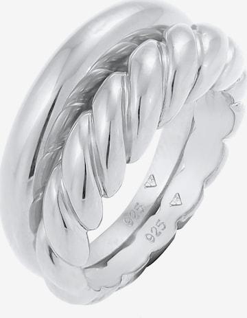 ELLI PREMIUM Sieraden set 'Twisted' in Zilver