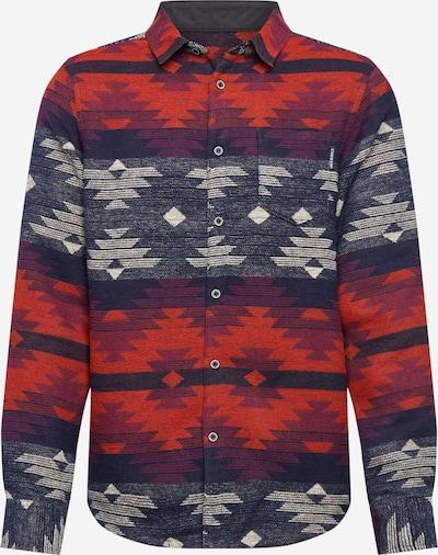 Iriedaily Hemd 'Santania' in blau / grau / rot, Produktansicht