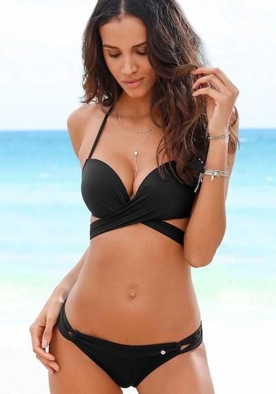 s.Oliver Push-Up-Bikini in schwarz, Modelansicht