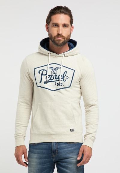 Petrol Industries Sweatshirt in de kleur Natuurwit: Vooraanzicht
