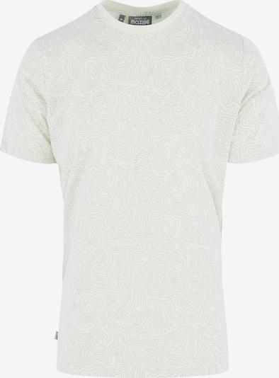 mazine T-Shirt 'Barrhil Allover T' in grau / weiß, Produktansicht