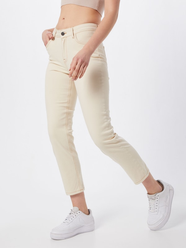 Noisy may Jeans 'JENNA' in creme, Modelansicht