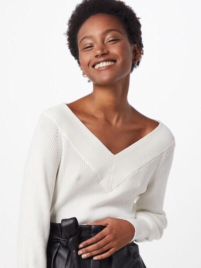 OBJECT Pull-over 'MANJA' en blanc, Vue avec modèle