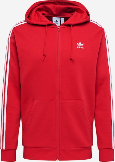 ADIDAS ORIGINALS Sweatjacke '3-STRIPES FZ' in kirschrot, Produktansicht
