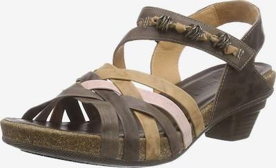 THINK! Sandale in mokka / hellbraun / rosa, Produktansicht