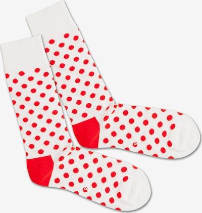 DillySocks Socken 'Bloody Snow Balls' in rot / weiß, Produktansicht