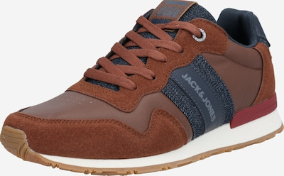 JACK & JONES Sneakers laag 'Stellar' in de kleur Navy / Karamel / Lichtgrijs, Productweergave