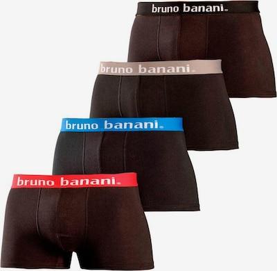 BRUNO BANANI Boxershorts in hellblau / hellrot / schwarz, Produktansicht