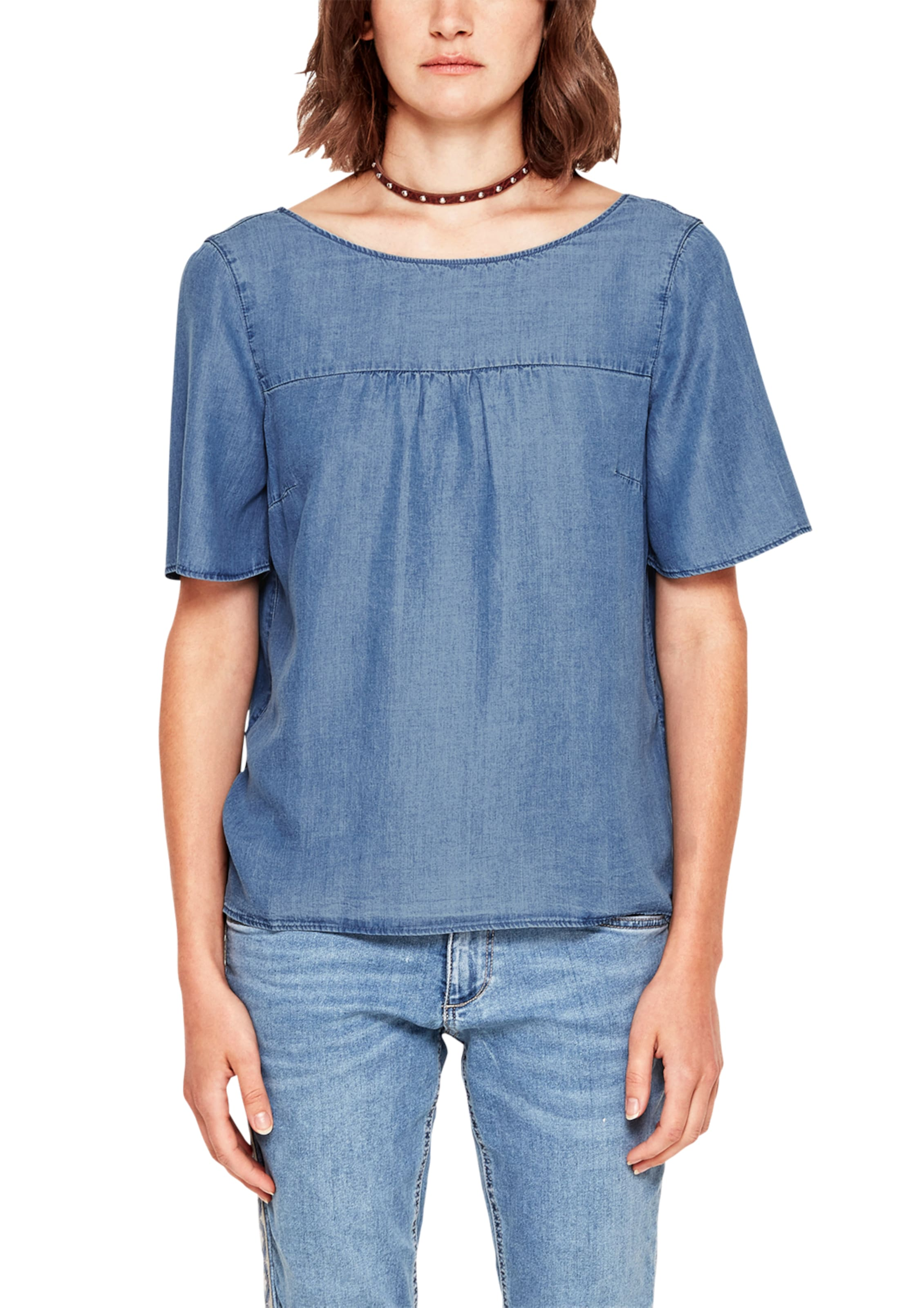 Denim Red S In Blusenshirt Blue oliver Label kXTOiPZu