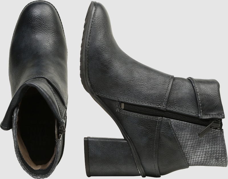 Haltbare Mode billige Schuhe MUSTANG   Stiefelette in Reptilleder-Optik getragene Schuhe Gut getragene Reptilleder-Optik Schuhe e91886