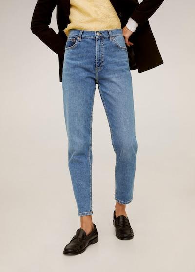 MANGO Jeans 'Newmom' in de kleur Blauw denim, Modelweergave