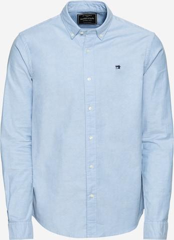 SCOTCH & SODA Hemd 'NOS Shirt with contrast details' in Blau