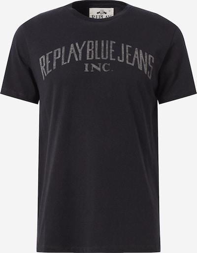 REPLAY T-Shirt en noir: Vue de face