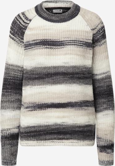 Noisy may Trui 'LEED' in de kleur Beige / Grafiet / Grijs gemêleerd / Wit, Productweergave